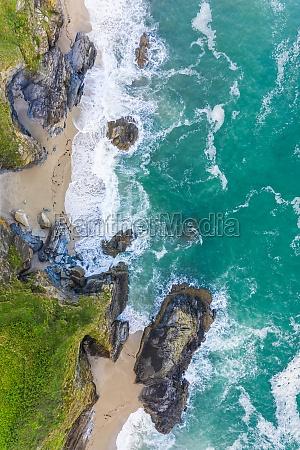 aerial view of lantic bay at