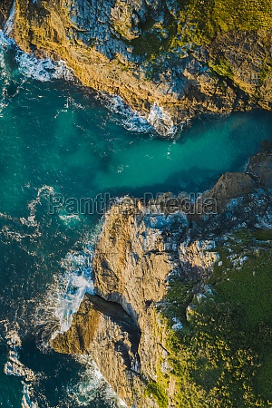 aerial view of rock valley tintagel