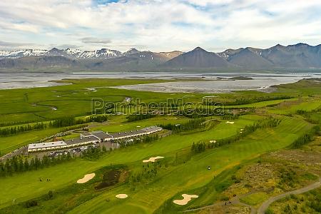 aerial view of hamarsvoellur golf course