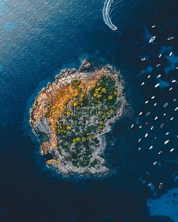 aerial view of the island pantaleu