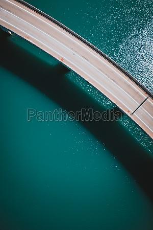 aerial view of a bridge crossing