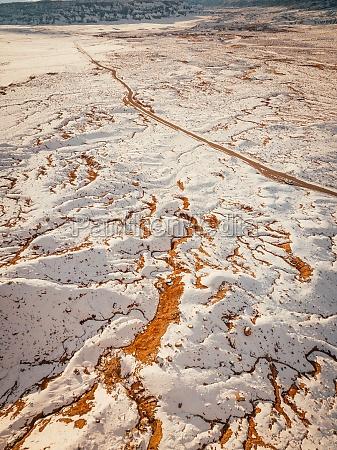 aerial view of goblin valley utah