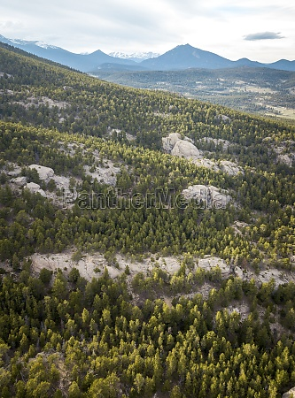 aerial view of rocky mountain national