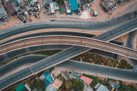 aerial view of gurugram residential district