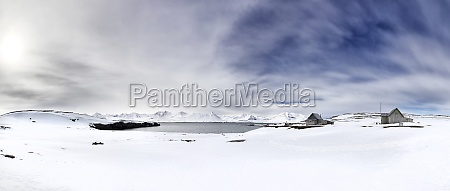 panarama of the pristine snow covered
