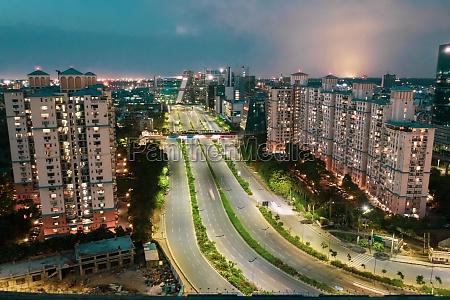 aerial view of gurugram financial district