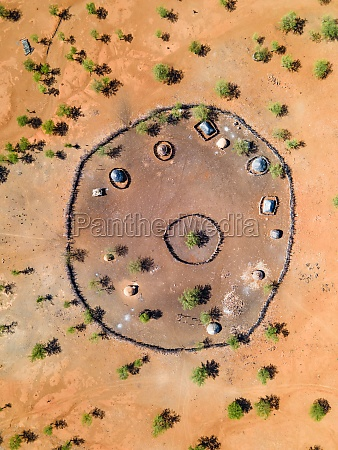 aerial view of a rural namibian