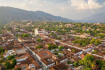 aerial view of santa fe de