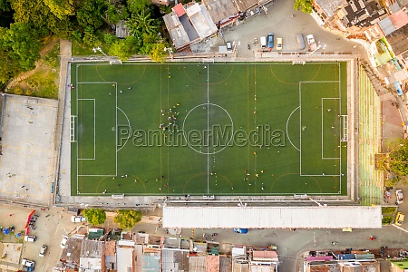aerial view of a small football