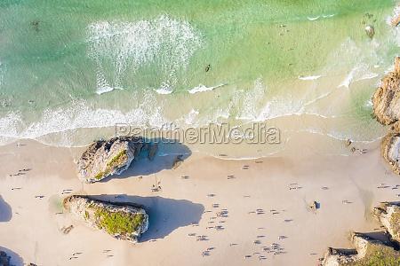 aerial view of praia de catedrais