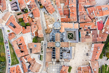 aerial view of burgos cathedral a