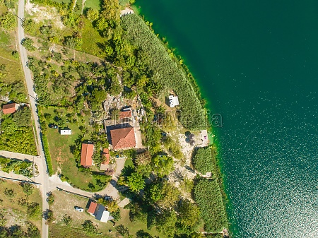 aerial view of of settlement and