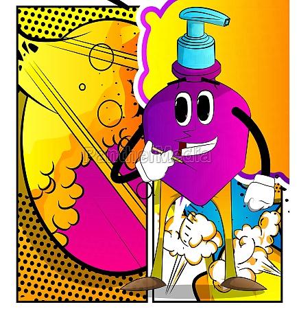 bottle of hand sanitizer with medical