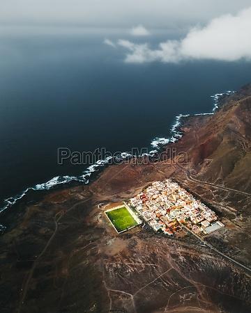 aerial view of las coloradas a