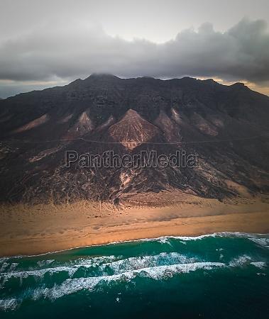 aerial view of wild atlantic ocean