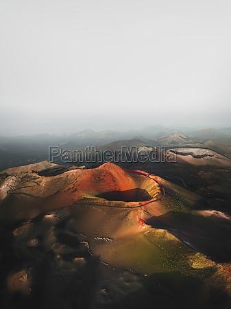 aerial view of caldera del corazoncillo
