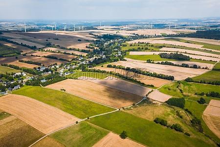 aerial view of fields in chemnitz