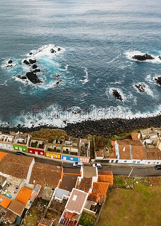 aerial view of coastline of the