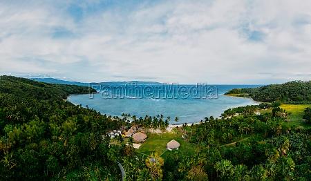 aerial view of kitesurf minduro resort