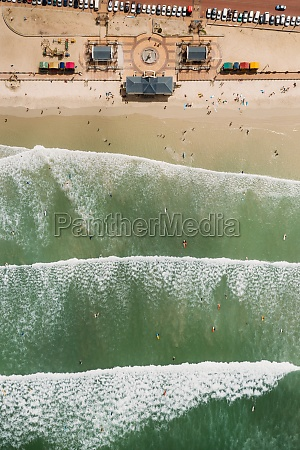 aerial view of muizenberg cape town