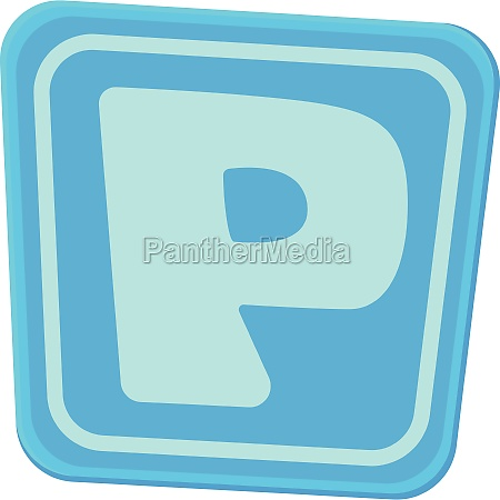 parking sign icon cartoon style