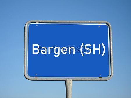 place name sign bargen sh