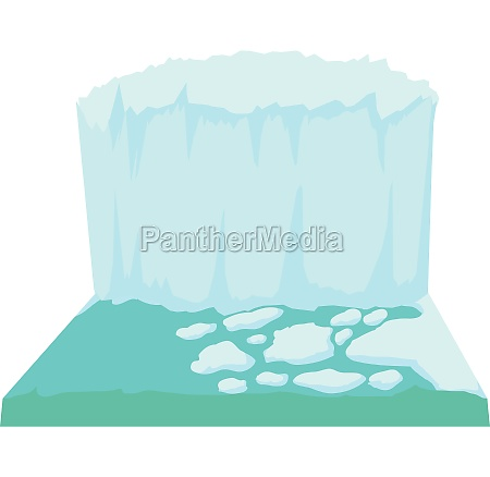 iceberg icon cartoon style