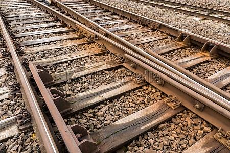 multiple rail tracks