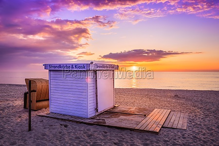 evening at the baltic sea germany