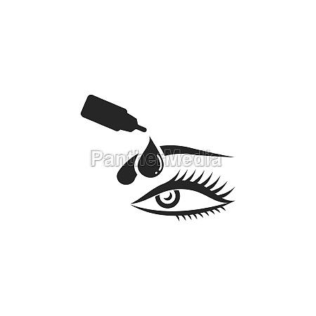 eye drops vector icon illustration design