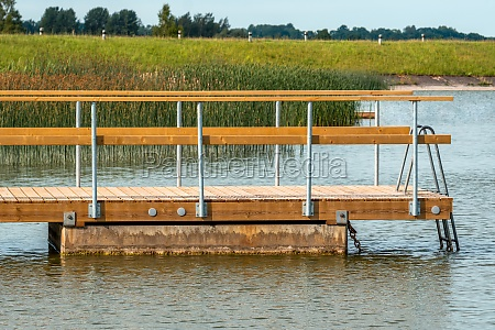 side view of a wooden pier