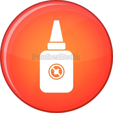 insect spray icon flat style