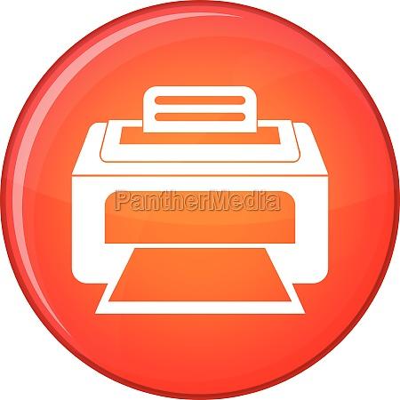 modern laser printer icon flat style