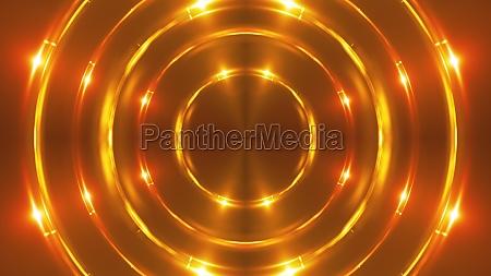 gold fractal lights