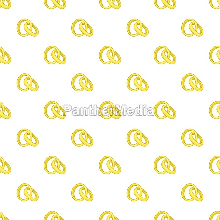 gold wedding rings pattern cartoon style