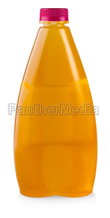 the juice in plastic bottle isolated