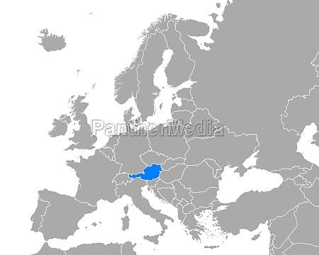 map of austria in europe