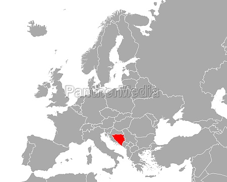 map of bosnia and herzegovina in