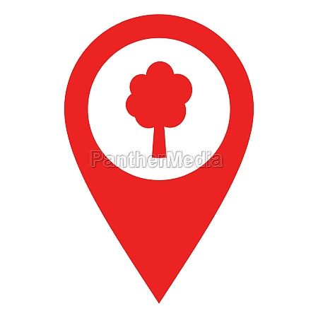 tree and location pin