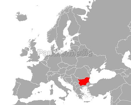 map of bulgaria in europe