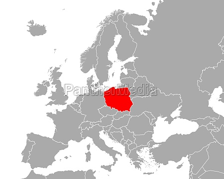 map of poland in europe