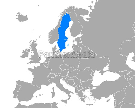 map of sweden in europe