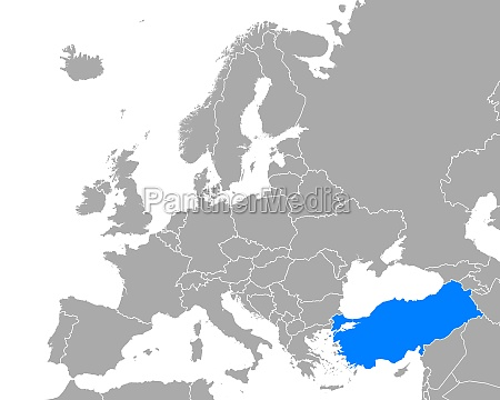 map of turkey in europe