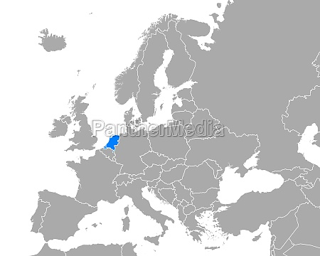 map of netherlands in europe