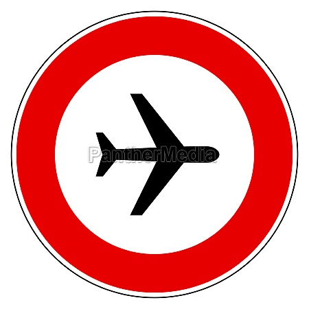 airplane and prohibition sign