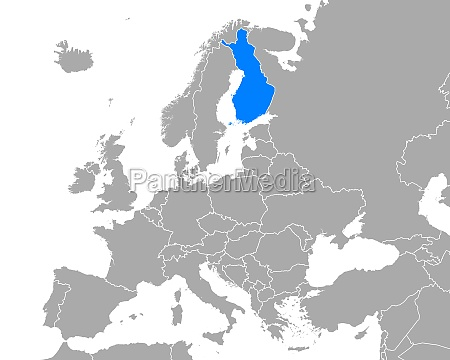 map of finland in europe