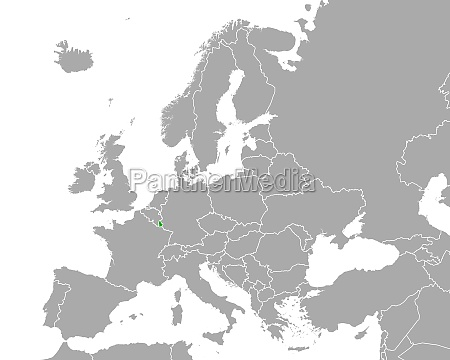 map of luxembourg in europe