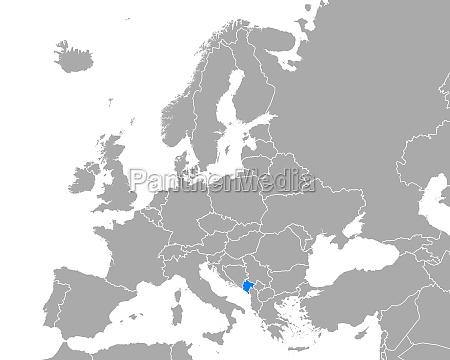 map of montenegro in europe
