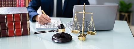 lawyer or judge criminal litigation banner