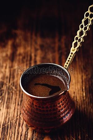 fresh brewed turkish coffee
